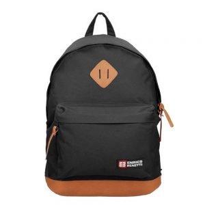 "Enrico Benetti Brasilia Rugzak 14"" black backpack"