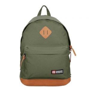 "Enrico Benetti Brasilia Rugzak 14"" olive backpack"