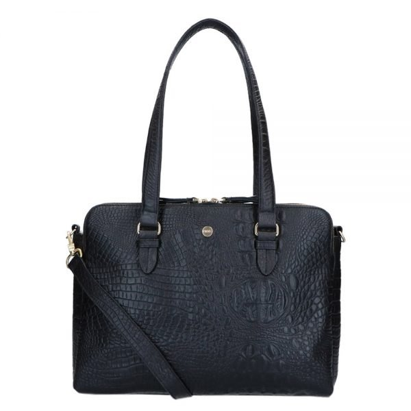 FMME. Charlotte 13.3 Workingbag 3 Pockets Croco black