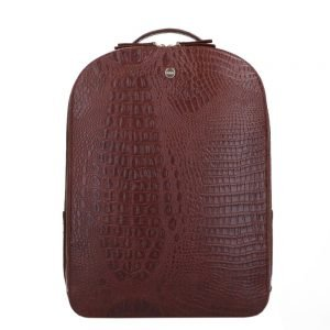 FMME. Claire 13.3 Backpack Croco brown backpack