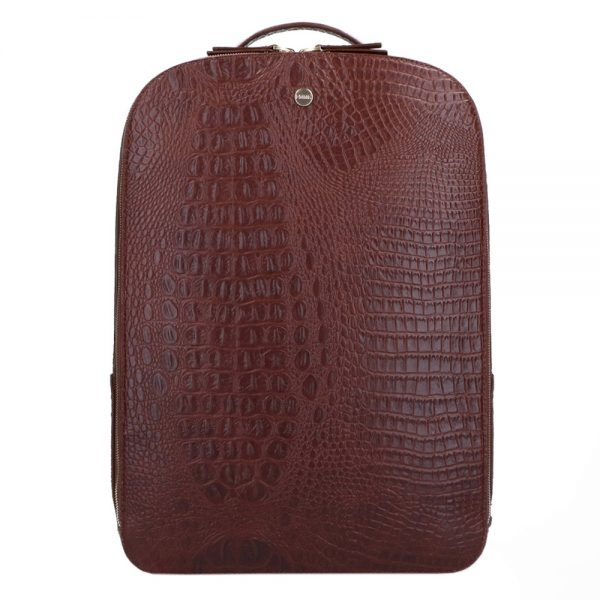 FMME. Claire 15.6 Backpack Croco brown backpack