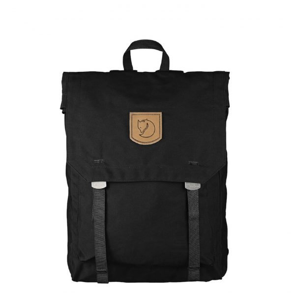 Fjallraven Foldsack No.1 black backpack
