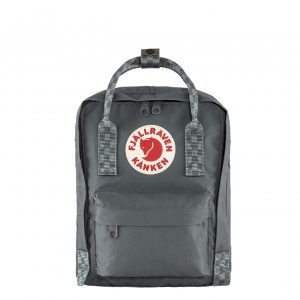 Fjallraven Kanken Mini Rugzak super grey/chess patern