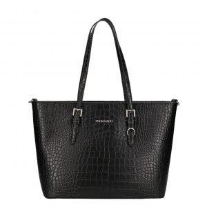 Flora & Co Bags Shopper Croco zwart Damestas