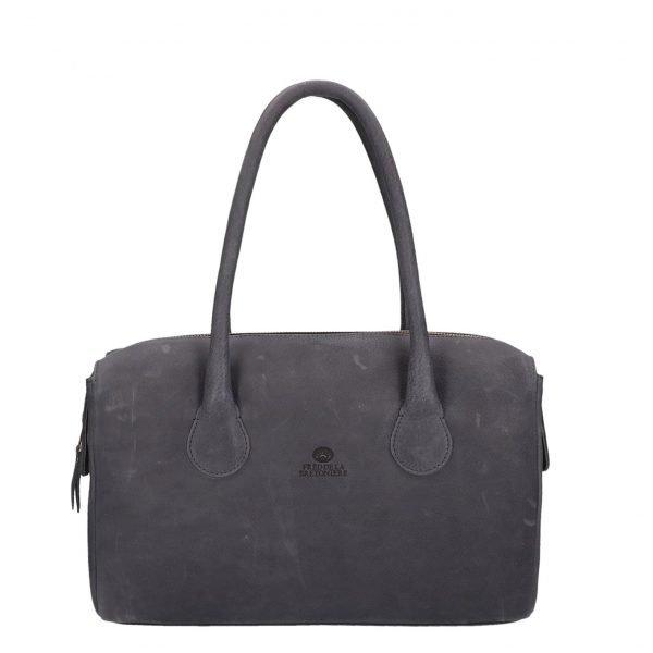 Fred de la Bretoniere Soft Grain Leather Handbag L black Damestas