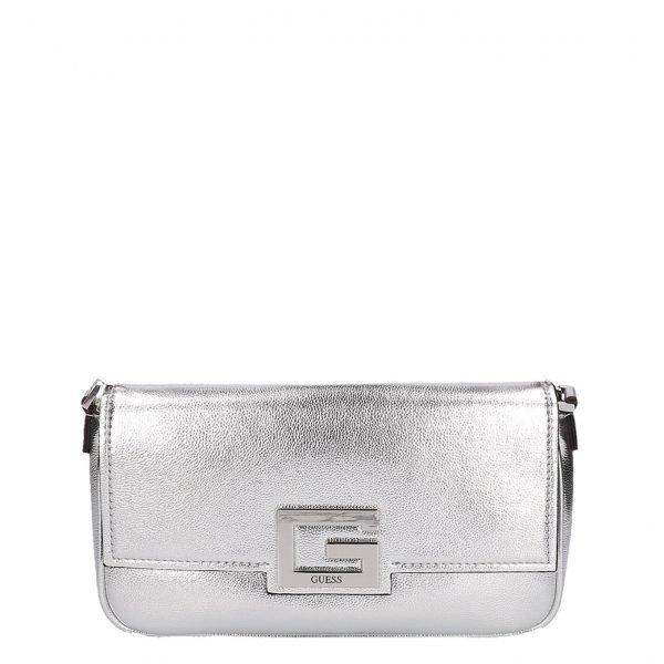 Guess Brightside Shoulder Bag silver Damestas