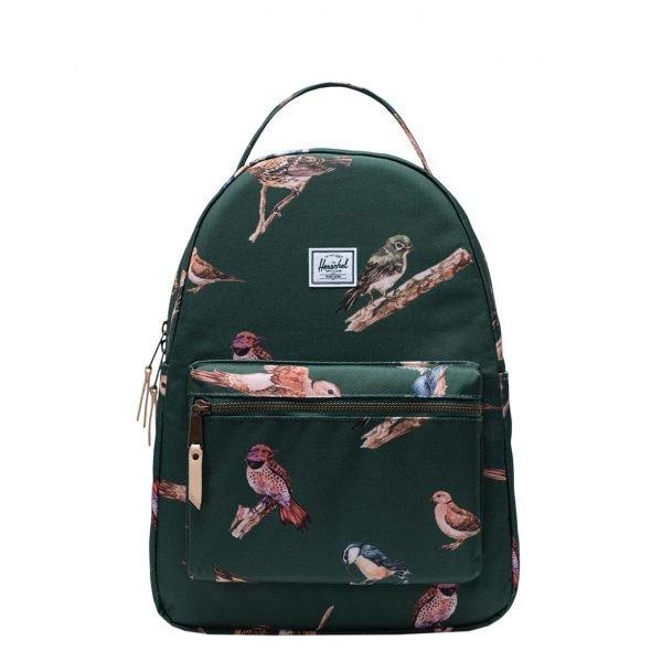 Herschel Supply Co. Birds Of Herschel | Nova Mid-Volume Rugzak dark green birds backpack