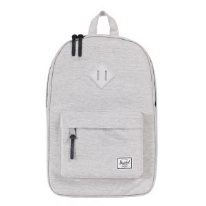Herschel Supply Co. Heritage Mid-Volume Rugzak light grey crosshatch/grey rubber backpack