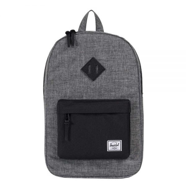 Herschel Supply Co. Heritage Mid-Volume Rugzak raven crosshatch/black pebbled leather backpack