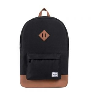 Herschel Supply Co. Heritage Rugzak black/tan synthetic leather backpack