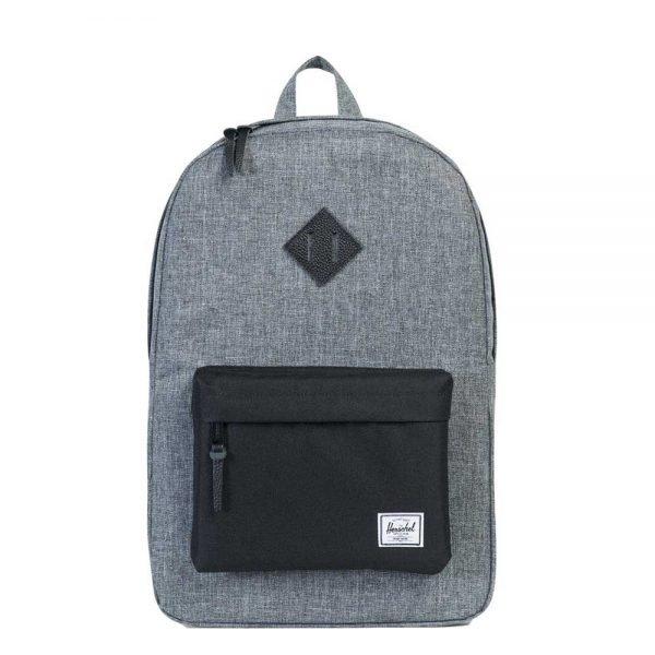 Herschel Supply Co. Heritage Rugzak raven crosshatch/black/black leather backpack