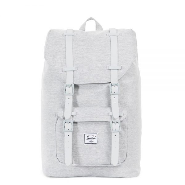Herschel Supply Co. Little America Mid-Volume Rugzak light grey crosshatch/grey rubber backpack