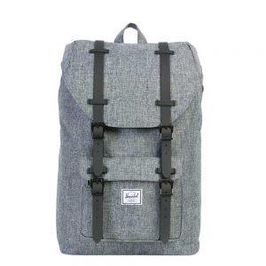 Herschel Supply Co. Little America Mid-Volume Rugzak raven crosshatch/black rubber backpack