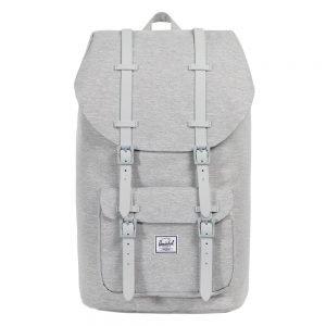 Herschel Supply Co. Little America Rugzak light grey crosshatch/grey rubber backpack