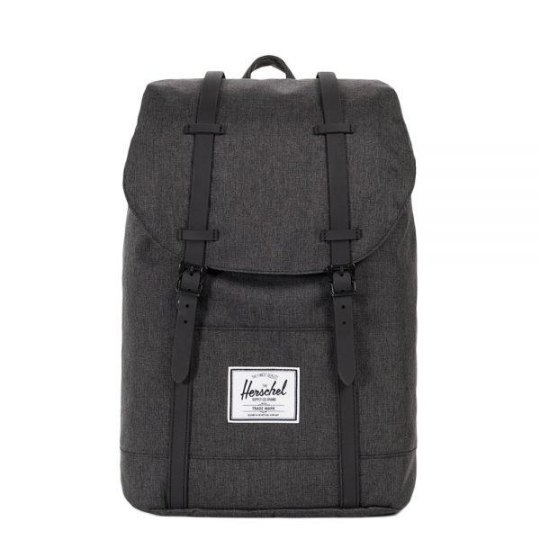 Herschel Supply Co. Retreat Rugzak black crosshatch/black rubber backpack