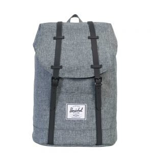 Herschel Supply Co. Retreat Rugzak raven crosshatch/black rubber backpack