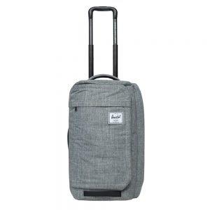 Herschel Supply Co. Wheelie Outfitter 50L Reistas raven crosshatch Handbagage koffer Trolley