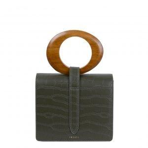 Inyati Abbey Top Handle Bag dark olive croco matt Damestas