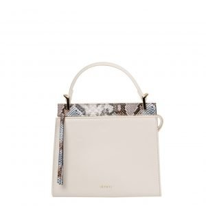 Inyati Dune Top Handle Bag coconut milk/blue snake Damestas