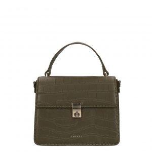 Inyati Elody Top Handle Bag dark olive croco matt Damestas