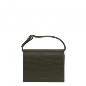 Inyati Ivy Mini Bag dark olive croco matt Damestas