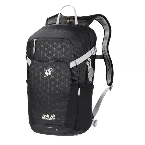 Jack Wolfskin Alleycat 18 Pack black grid backpack