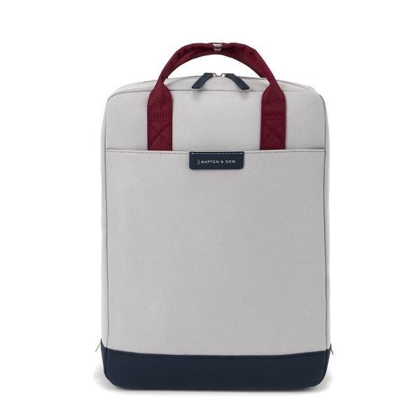 Kapten & Son Malmo Backpack grey blue backpack
