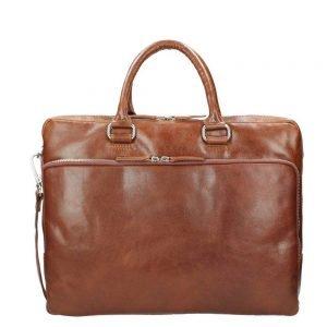 Leonhard Heyden Cambridge Briefcase L cognac