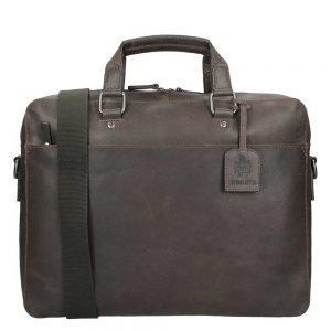 Leonhard Heyden Dakota Briefcase 1 Compartment brown