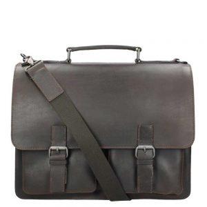 Leonhard Heyden Dakota Briefcase 2 Compartments brown