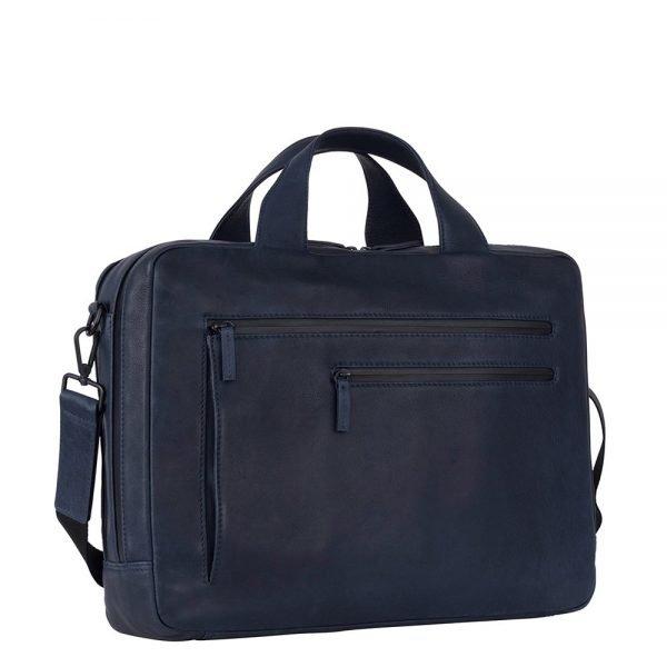 Leonhard Heyden Den Haag 2 Handle Brief Case 2 Compartments blue