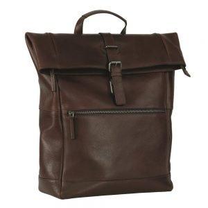 Leonhard Heyden Roma Backpack Rolltop brown backpack