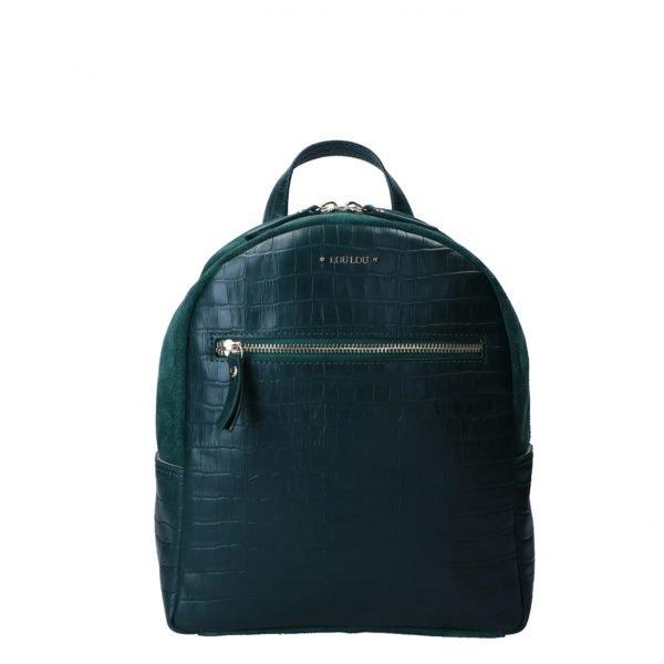 LouLou Essentiels Classy Croc Backpack pine backpack