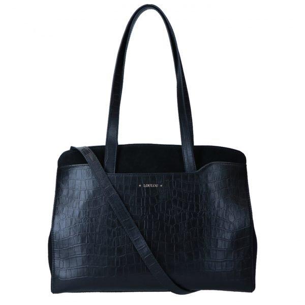 LouLou Essentiels Classy Croc Bag black II Damestas