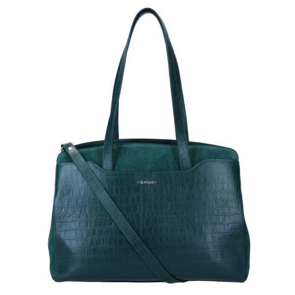 LouLou Essentiels Classy Croc Bag pine Damestas