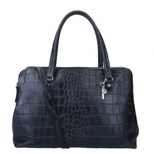 LouLou Essentiels Vintage Croco Bag black I Damestas