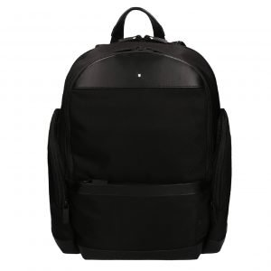 Montblanc Nightflight Backpack Medium black Leren tas