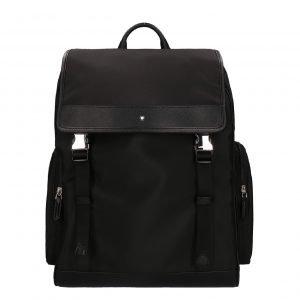 Montblanc Sartorial Jet Backpack Medium black Leren tas