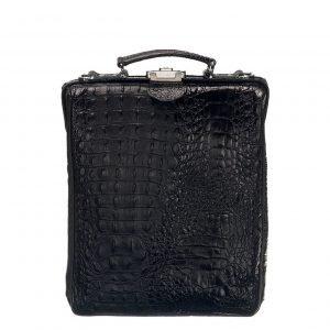 Mutsaers On The Bag Leather Backpack zwart croco backpack