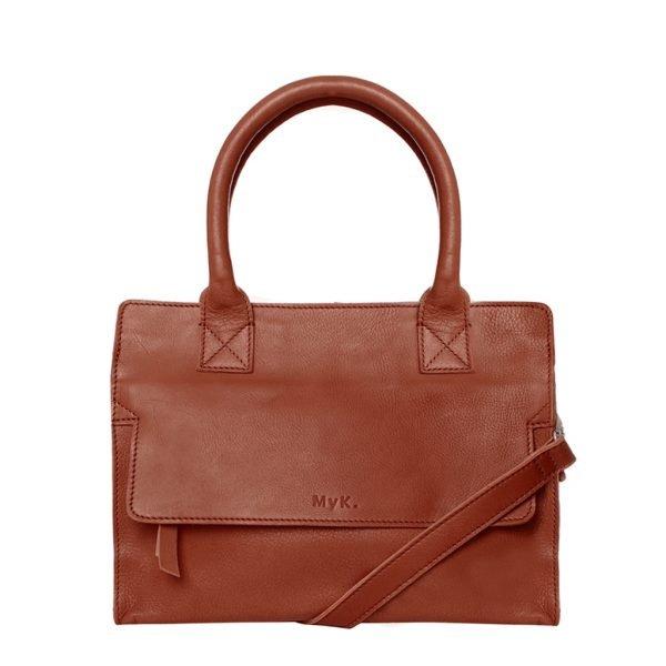 MyK. Cityhopper Bag chestnut Leren tas