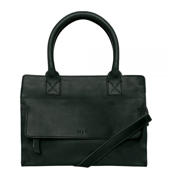 MyK. Cityhopper Bag emerald green Leren tas