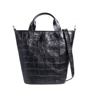 Myomy My Bucket Bag Handbag Croco black Damestas