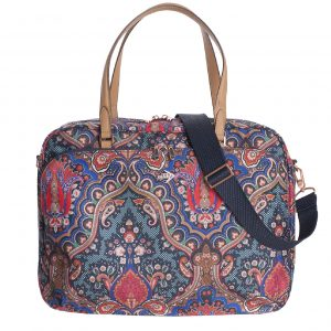 Oilily Paisley Office Bag royal blue Aktetas
