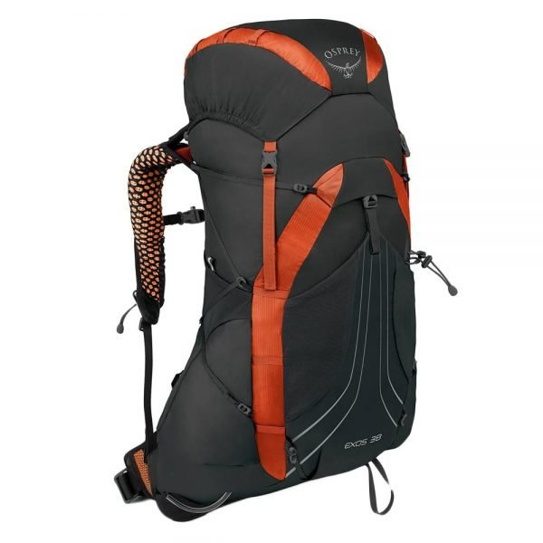 Osprey Exos 38 Medium Backpack blaze black backpack