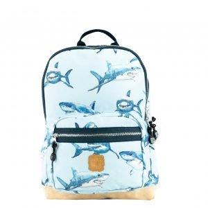 Pick & Pack Shark Backpack M light blue Laptoprugzak
