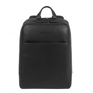 Piquadro Black Square Computer Backpack with iPad Compartment black backpack