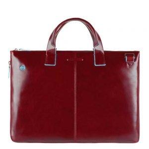 "Piquadro Blue Square Expandable Slim Computer Bag 15.6"" red"