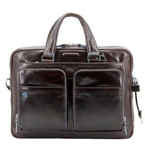 Piquadro Blue Square Organized Laptop & iPad Case brown