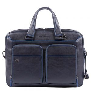 Piquadro Blue Square Portfolio Computer Briefcase with iPad 9.7 en 10.5 inch night blue