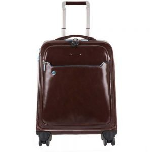 "Piquadro Blue Square Slim Cabin Trolley 15.6"" mocca Lichtgewicht koffer"